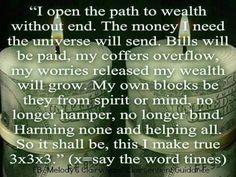 Money incantation/chant
