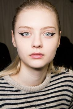 View all the photos of the beauty & make-up at the Anteprima autumn (fall) / winter 2015 showing at Milan fashion week.  Read the article to see the full gallery.