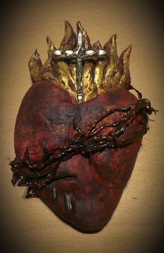 Most Sacred Heart of Jesus: Short Conferences On The Sacred Heart. Heart Of Jesus, Jesus Is Lord, Catholic Art, Religious Art, The Great Doctor, Jesus E Maria, Human Heart, Flesh And Blood, Eucharist