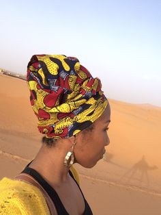 Curly Hair On Vacation With Fanm Djanm African Headwraps