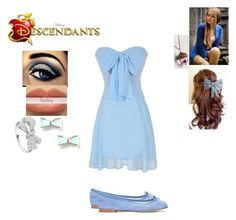 """Winnie Darling - Daughter of Wendy Darling"" by maxinepotter ❤ liked on Polyvore featuring Repetto, Astley Clarke, disney, OC and Descendants"
