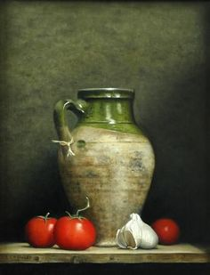 Turkish Jar and Tomatoes by Linda Crawley                                                                                                                                                     More