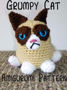 Pattern Grumpy Cat Amigurumi by MilesofCrochet on Etsy, $3.95