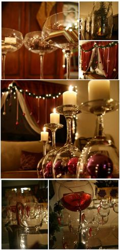 Wine Glass Wonder - 21 Beautifully Festive Christmas Centerpieces You Can Easily DIY