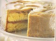 Hard Carmel Frosting Cake