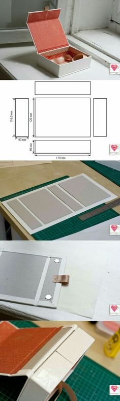ideas diy box template packaging for 2019 Diy Paper, Paper Crafts, Handmade Paper Boxes, Papier Diy, Cardboard Crafts, Bookbinding, Wrapping Ideas, Diy Gifts, Diy And Crafts