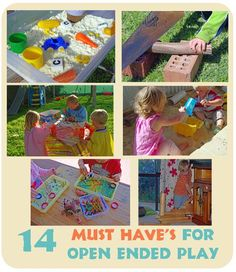 {Triple T Mum} 14 open ended materials that will encourage creative, open ended play.