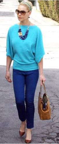 Necklace and earrings - Stella & Dot Jeans - David Kahn Purse - Valentino Similar style handbag by the same designer Valentino 'Rockstud - Small' Tote Valentino Rockstud Leather Tote Valentino studded leather tote