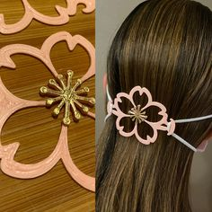 Custom Design Ear Saver for disposable face mask Hello Mickey Kitty Minnie Floral Sakura Minnie Bow, Sakura Cherry Blossom, Figure It Out, Fashion Face Mask, Sell On Etsy, True Beauty, Hair Ties, Tapas, 3d Printing