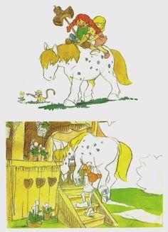 Concept art from the Pippi Longstocking-movie that Studio Ghibli never got to make. God it's pretty.