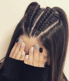 44 Ideas de Peinados Juveniles que te Encantarán Latest Hairstyles, Braided Hairstyles, Cool Hairstyles, Braided Locs, Updo Hairstyle, Hair Ponytail, Headband Hairstyles, Medium Hair Styles, Long Hairstyles