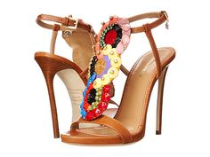 DSQUARED2 T-Strap Heeled Sandal Cuoio - Zappos.com Free Shipping BOTH Ways