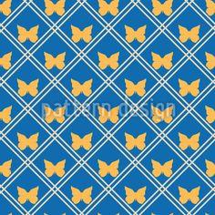 Goldene Schmetterlinge Rapportiertes Design by Svetlana Bataenkova at patterndesigns.com Vektor Muster, Spring Blossom, Vector Pattern, Surface Design, Quilts, Patterns, Floral, Vectors, Insects
