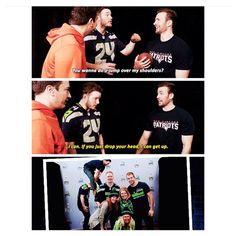 Hahaha Chris & Chris <3