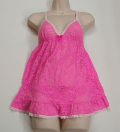 VICTORIA'S SECRET Lace Baby Doll Panties Set NEW NWT $48 #VictoriasSecret #BabydollChemise
