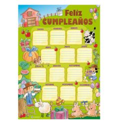 Panel Cumpleaños Granja -> http://www.masterwise.cl/productos/43-sala-de-clases/262-panel-cumpleanos-granja