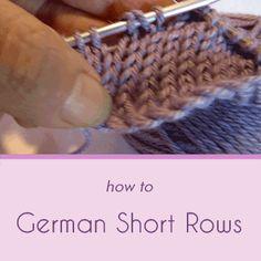 German Short Rows: A Tutorial