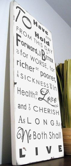wedding vows typography