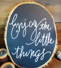 Wood Slice Chalkboard Sign | Home Decor | This Fine Day | Scoutmob Shoppe | Product Detail