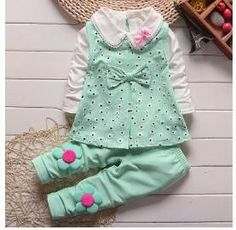 Baby Girls 3PCS Fashion Outfit - 9M To 3T (3 Colors)
