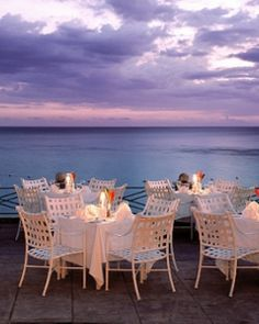 The on-site restaurant offers delectable fresh dishes from the ocean right in front of you. #JSBeachDining #Jetsetter (Round Hill Hotel and Villas - Montego Bay, Jamaica)