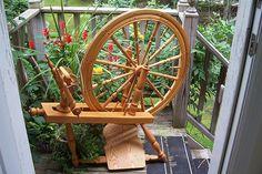 Rick Reeves Saxony spinning wheel owned by notplainjane on ravelry