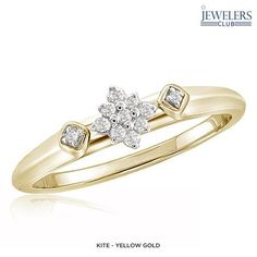 1/10ctw Genuine Diamond Royal Rapture Ring in 14-Karat Gold - Assorted Styles at 85% Savings off Retail!