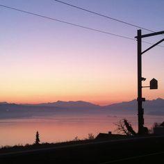 Blick vom Bhf. Oberrieden Dorf, 2.3.2012, 6:42 Uhr