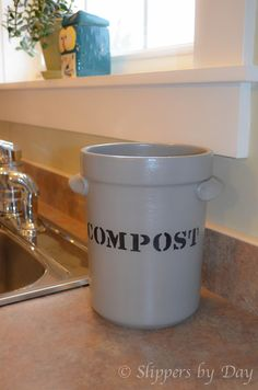 Diy Compost Bin For Inside A Small Bucket Under Sink