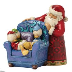 This Santa with Huey, Dewey and Louie figurine named And to All a Good Night is designed for Disney Traditions by Jim Shore. Here Huey, dewey and Louie stake out on a comfy sofa on Christmas Eve waiting for Santa. Jim Shore Christmas, Disney Christmas, A Christmas Story, Christmas Ornaments, Christmas Town, Christmas Ideas, Christmas Crafts, Merry Christmas, Xmas