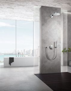Grohe SmartControl aims to provide a relaxing living environment. Timeless Bathroom, Modern Bathroom Decor, Bathroom Trends, Modern Bathroom Design, Bathroom Interior Design, Modern Interior, Bathroom Ideas, Guest Bathrooms, Bathroom Plans