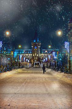 Winter / Iasi Romania by RaduChirita Street View, Architecture, City, Winter, Winter Time, Architecture Illustrations, Winter Fashion
