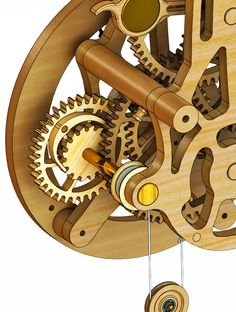 Wooden Clocks: January 2013 Woodworking Furniture Plans, Woodworking Equipment, Woodworking Projects That Sell, Kids Woodworking, Wooden Gear Clock, Wooden Gears, Wood Clocks, Wooden Clock Plans, Antique Clocks