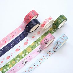 1.5cm Wide Love You Lips Snow Dinosaur Flamingo Decorative Washi Tape DIY Scrapbooking Masking Tape School Office Supply