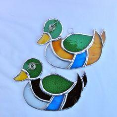 Stained Glass Mallard Duck Suncatcher £12.00