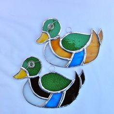 Stained Glass Mallard Duck Suncatcher £12.00