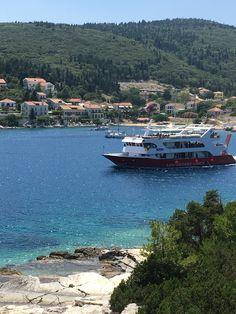 Ferry leaving Fiskardo