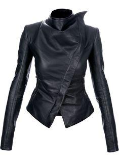 Gareth Pugh Asymmetric Leather Jacket - - Farfetch.com