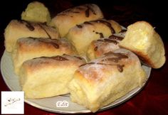 Duplán túrós bukta Hungarian Cuisine, Hungarian Recipes, Croissant Bread, Food Vocabulary, Ring Cake, Cake Factory, Pound Cake, Scones, Dessert Recipes