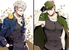 Both Germanic brothers ( Prussia / Gilbert and Germany / Ludwig ) from hetalia