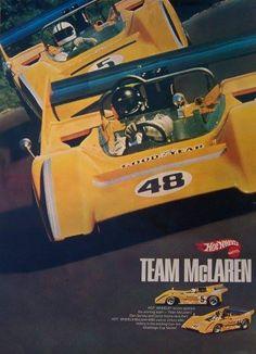 Gurney , Hulme early 1970 McLaren M8D Team Hot Wheels