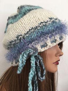 Hand Knits 2 Love Beanie Slouch Beret Designer Fashion Winter Hat Women Snow Ski  | eBay