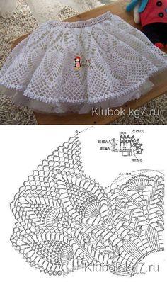 Вязаная юбка крючком | Клубок