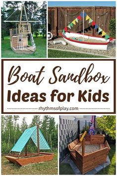 Best Sandbox Ideas for Kids! Here's a cool collection of unique and creative outdoor backyard sandbox ideas for children. DIY sandbox plans, easy hacks for a sandbox with cover, and kids sandbox ideas you can buy and build at home are included! Kids Outdoor Play, Outdoor Play Areas, Kids Play Area, Indoor Activities For Kids, Summer Activities, Backyard Play Spaces, Backyard For Kids, Backyard Projects, Sandbox Ideas