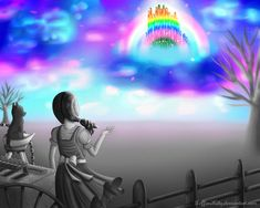 Somewhere Over the Rainbow- Dorothy and her dog, Toto and the Emerald City in the sky from The Wizard of Oz Wizard Of Oz Quotes, Figure Drawings, City Sky, Land Of Oz, Cos Play, Emerald City, Over The Rainbow, Kansas, Wicked