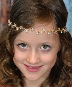 This Golden Rope Rhinestone Drop Headband by Chicky Chicky Bling Bling is perfect! #zulilyfinds