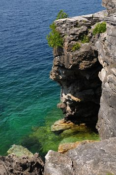 Entrance to the Grotto, Bruce Peninsula National Park, Ontario, Canada