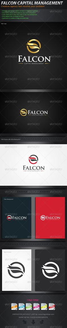 9191ea4e643 Falcon - Logo For Your Business Agency  GraphicRiver Logo  This brand is  suitable for