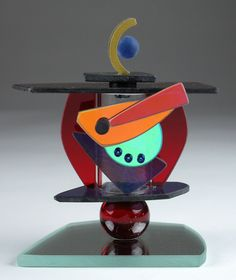 George Ponzini: Art Glass Perfume Bottle | Artful Home - Pile on those quirky shapes!