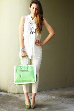 Irene bianco verde